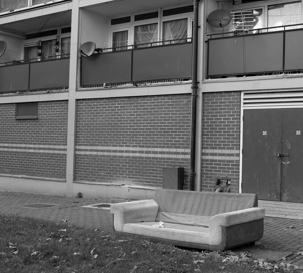 """Harri Lewis (Untitled) 2016 """"This is my collection of images taken in the Hillfields area of Coventry, typically this area is quite a deprived area of the city and I think my images reflect the human impressions left around this particular area showing how people live and how they have left these places after residing""""."""
